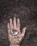Диамант в грязи Стоковое Фото