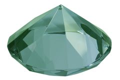 диамант зеленый Стоковые Фото