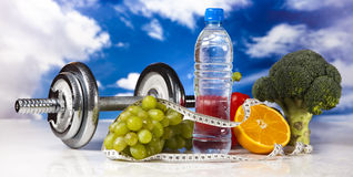 Диета спорта, калория, лента измерения Стоковое Изображение RF