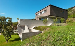 Дизайн архитектуры современный, дом Стоковая Фотография