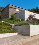 Дизайн архитектуры современный, дом Стоковое Изображение