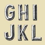 Дизайн алфавита эскиза притяжки руки Стоковые Изображения RF
