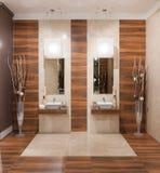 Дизайн ванной комнаты Стоковое Изображение