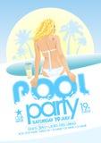 Дизайн вечеринки у бассейна Стоковое Изображение RF