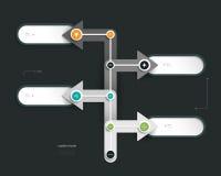 Дизайн временной последовательности по Infographics Стоковые Фото