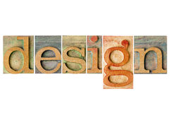 Дизайн - деревянный тип коллаж Стоковая Фотография
