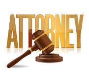 Дизайн иллюстрации знака поверенного в суде Стоковые Фотографии RF