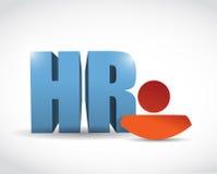 Дизайн иллюстрации значка человеческих ресурсов Стоковые Изображения RF