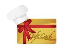 Дизайн иллюстрации карточки подарка ресторана Стоковое Изображение