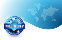 Дизайн иллюстрации дня здоровья мира Стоковые Фотографии RF