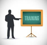 Дизайн иллюстрации принципиальной схемы представления тренировки Стоковое Изображение