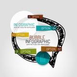 Дизайн и infographics облака вектора нарисованные рукой Стоковые Изображения RF