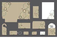 Дизайн канцелярских принадлежностей установленный Стоковая Фотография
