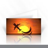 Дизайн карточки приглашения, шаблон Стоковое фото RF