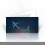 Дизайн карточки приглашения, шаблон Стоковые Фотографии RF