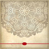 Дизайн круга цветка на предпосылке grunge с Стоковая Фотография