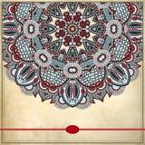 Дизайн круга цветка на предпосылке grunge с Стоковая Фотография RF
