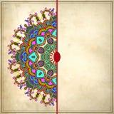 Дизайн круга цветка на предпосылке grunge с Стоковые Фото