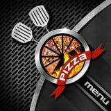Дизайн меню пиццы Стоковое фото RF