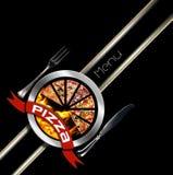 Дизайн меню пиццы Стоковая Фотография