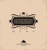 Дизайн меню ресторана Стоковая Фотография