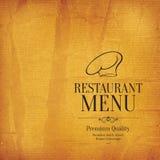 Дизайн меню ресторана Стоковое Изображение RF