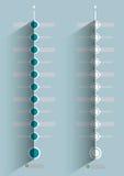 Дизайн минимального срока infographic Стоковое Изображение