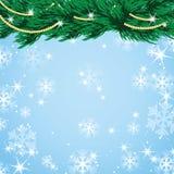 Дизайн Нового Года и рождества с рождественской елкой Стоковые Фото
