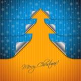Дизайн поздравительной открытки при изогнутые стикеры формируя дерево Стоковые Изображения RF