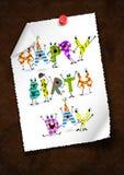 Дизайн поздравительной открытки, шаблон Стоковая Фотография
