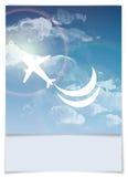 Дизайн поздравительной открытки, шаблон Стоковое фото RF
