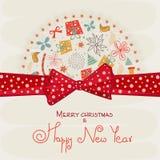 Дизайн поздравительной открытки для торжеств фестиваля Стоковое Изображение