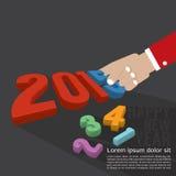 Дизайн 2015 поздравительной открытки Стоковые Изображения RF