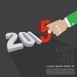 Дизайн 2015 поздравительной открытки Стоковое Изображение
