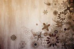 Дизайн произведенный цифров girly флористический Стоковое фото RF