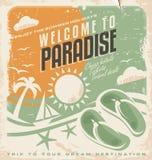 Дизайн плаката летнего отпуска ретро Стоковые Фотографии RF