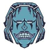 Дизайн рубашки изверга Smiley каменный Стоковые Фото