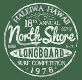 Дизайн северного прибоя берега опирающийся на определённую тему винтажный Стоковое Изображение
