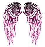 Дизайн татуировки крылов Стоковое фото RF