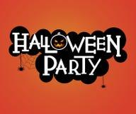 Дизайн текста партии хеллоуина Стоковые Изображения RF