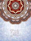 Дизайн цветка на предпосылке grunge Стоковое Изображение