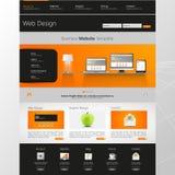 Дизайн шаблона интерфейса вебсайта вектор Стоковое Изображение RF
