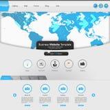 Дизайн шаблона интерфейса вебсайта вектор Стоковые Фотографии RF