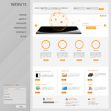 Дизайн шаблона интерфейса вебсайта вектор Стоковое Изображение