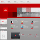 Дизайн шаблона интерфейса вебсайта вектор Стоковые Изображения