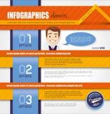 Дизайн шаблона Infographic Стоковые Изображения