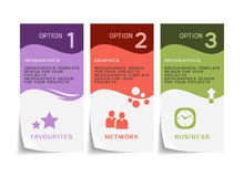 Дизайн Infographic с бумажными рогульками Стоковое Фото