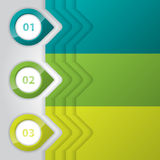 Дизайн Infographic с лоснистыми указателями Стоковое фото RF