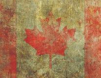 Дизайн Severly флага Grunge канадский увял и повредил Стоковое Фото