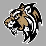 дикая кошка талисмана логоса Стоковые Фотографии RF